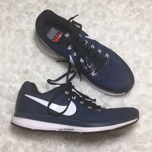 Nike blue Zoom Pegasus 34 shoes